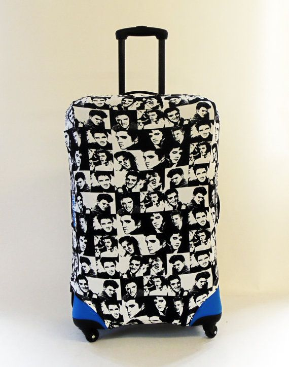 Elvis Black & White Design Caseskinz Suitcase by DigitalPrinters