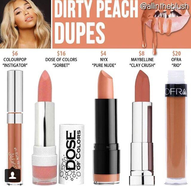 Kylie cosmetics dirty peach dupes // @kathrynglee123
