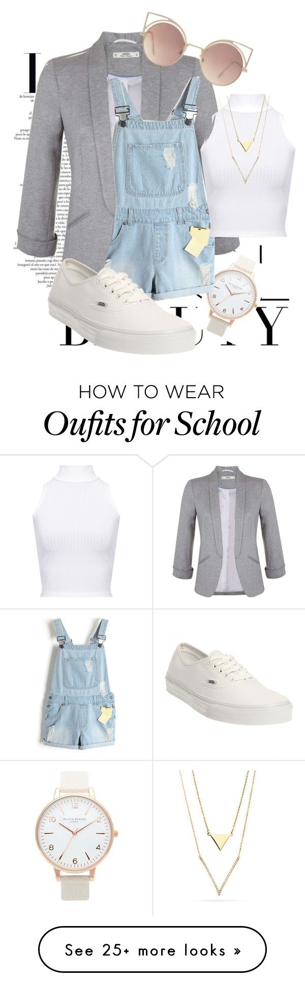"""Back To School ♕2"" by kalanilee5 on Polyvore featuring Topshop, Miss Selfridge, WearAll, Vans and MANGO"