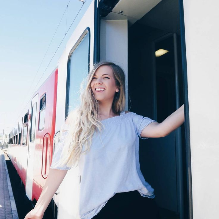 """1,090 Likes, 43 Comments - Sarah Nourse (@sarah.nourse) on Instagram: """"Trains are my favorite form of transportation, what's yours? ⛵✈"""""""
