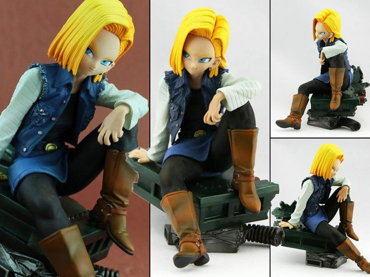 Anime Figure Toy Dragon Ball Z Android 18 Lazuli Series Figurine Statues 15cm