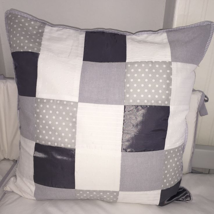 Grey and white baby cot linen