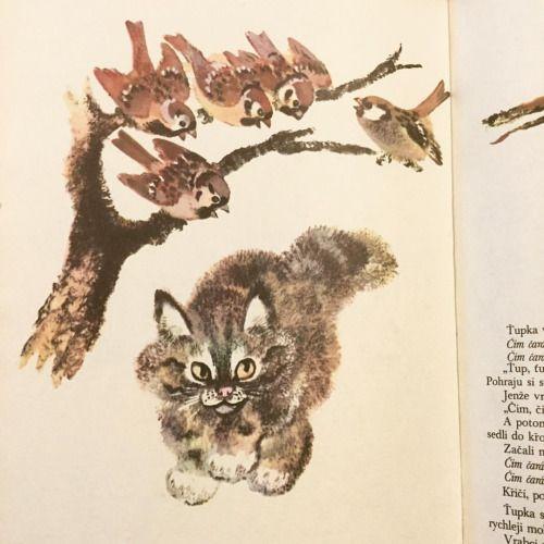 チャルーシンによる動物絵本も再入荷いたしました。 http://tamatsubaki.net/?pid=101233972 #ロシア絵本 #絵本 #猫 #illustration
