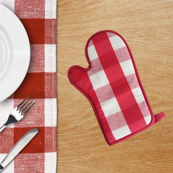 guanto da forno cucina quadro rosso magie di casa