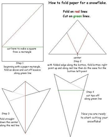 Fold paper for snowflake