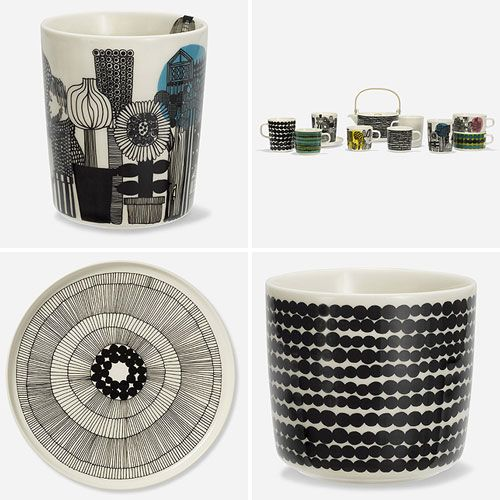 Thank You Katja and Minna from Nestled in for making this collage...I saw the new Oiva collection from Marimekko by Sami Ruotsalainen and Maija Louekari in a magazine a while back but wasn't able to find the right images on...