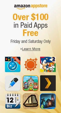 Amazon Appstore offering 31 paid apps & games worth $100 for free.