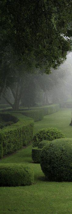 English country manor garden.                                                                                                                                                     More