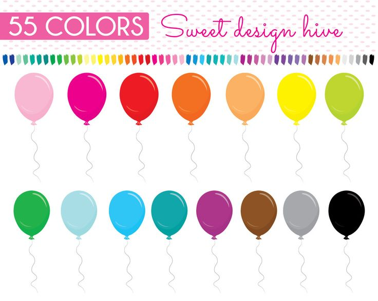 Balloon clipart, Balloon planner sticker, birthday clipart, planner stickers clipart, commercial use, PL0025 by Sweetdesignhive on Etsy