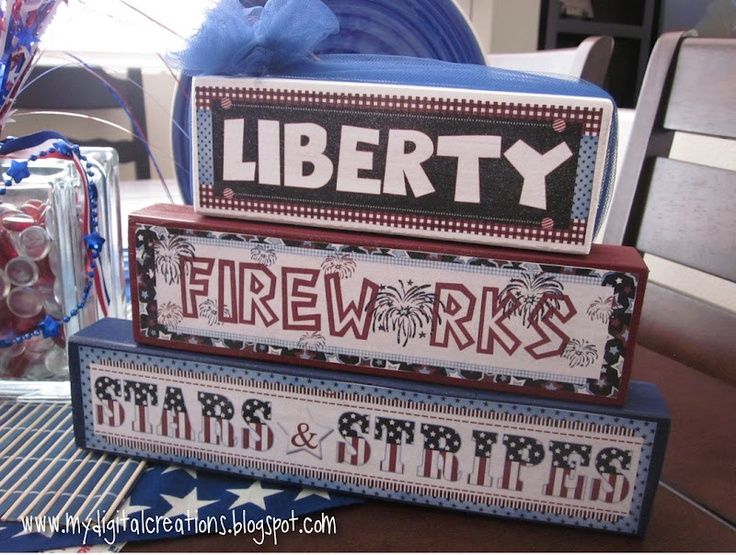 My Digital Creations: 4th of July Blocks - NEW RELEASEJuly Block, Stackable Wooden, 4Th Of July, Crafts Block, July 4Th, 4Th July, Digital Creations, Wooden Blocks, Block Crafts
