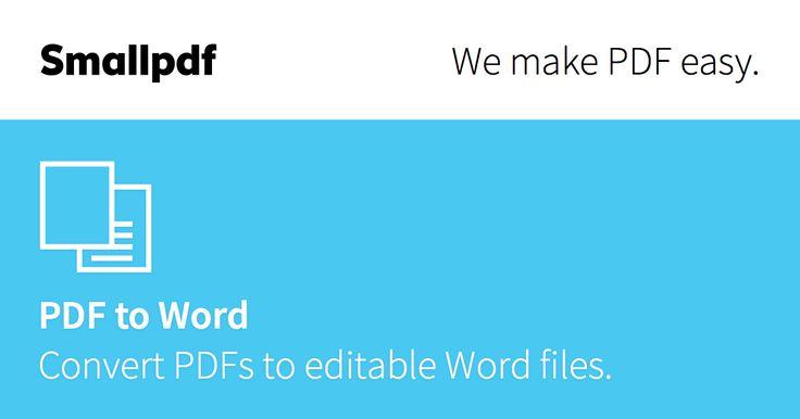Najlepsza jakość konwertowania PDF do Word na rynku, darmowa i łatwa w użyciu usługa bez znaków wodnych i ograniczeń. Konwertuj pliki PDF w kilka sekund.