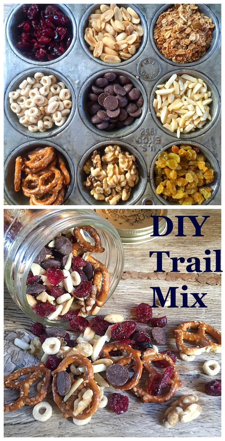 Homemade Trail Mix. Like the idea of having kids choose their own components.