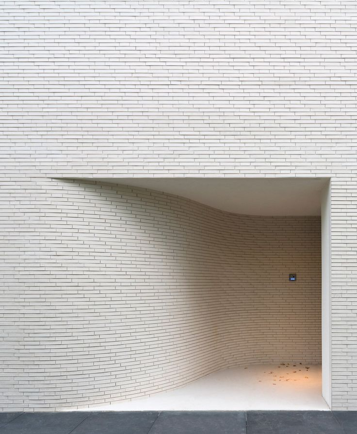 white brick and entrance design