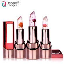 Flor de oro lápiz labial 3 sabores de frutas de temperatura cambia labio bálsamo de labios hidratante 3.5g maquillaje marca hengfang # h9302(China (Mainland))