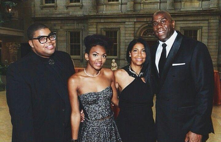 Magic Johnson & family