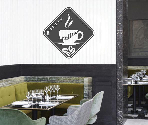 ik2140 Wall Decal Sticker Premium coffee cup drink restaurant cafe diner