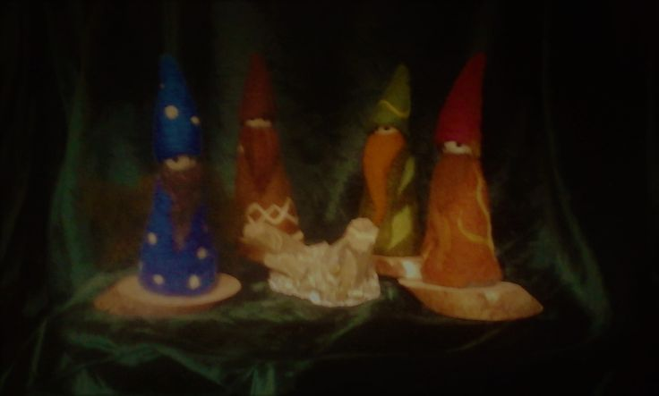 felted gnomes by #mialma_artemagia