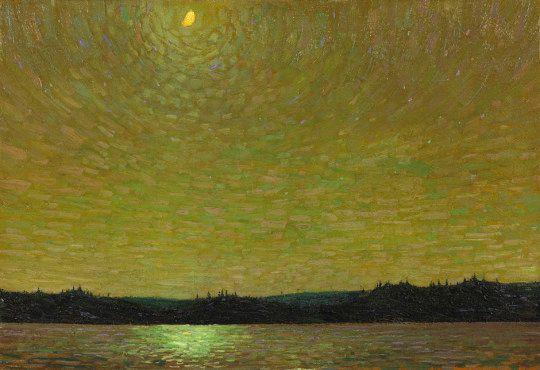"igormaglica: ""Том Томсон (1877-1917), Moonlight, 1913-14.  холст, масло, 53 х 77 см """