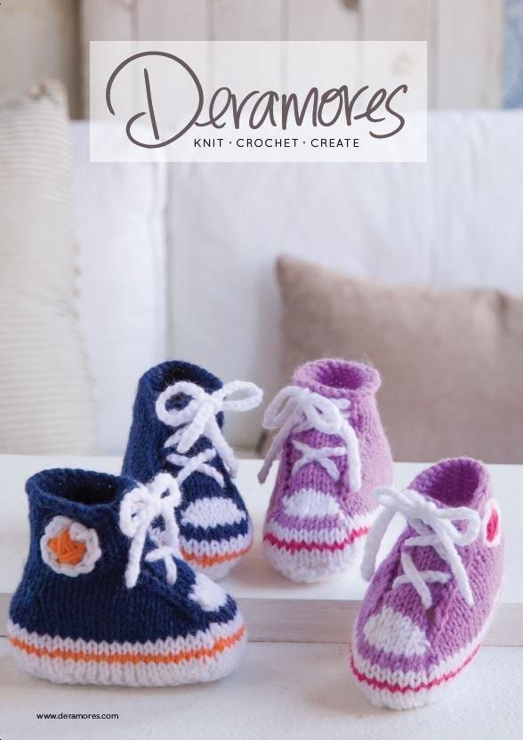 Buy Deramores Baby DK High Top Booties - Digital Pattern