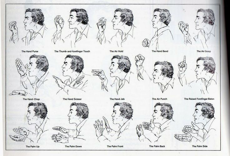 facial and hand gestures