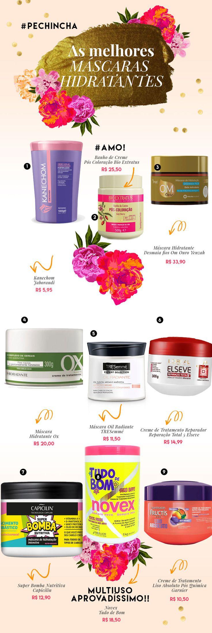 Tá procurando máscara hidratante boa e barata? Aqui tem as melhores opções do mercado para todos os tipos de cabelo, vem conferir!