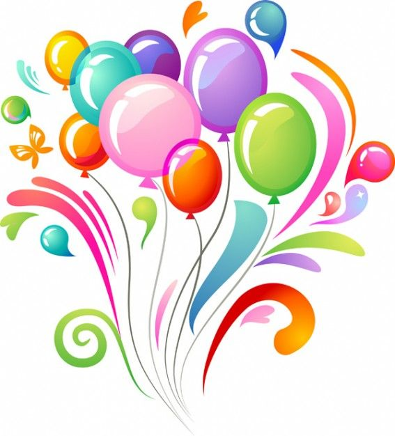 Birthday Balloons Clip Art Free: 1000+ Images About Happy Birthday! On Pinterest