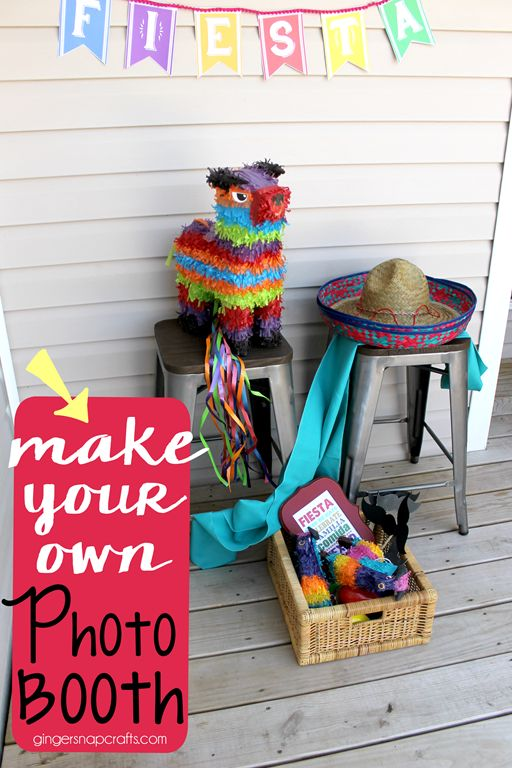 Make your own photo booth for cinco de  mayo...