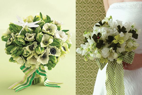 Irish Green Wedding Bouquets Flowers That Resemble Clovers Are So