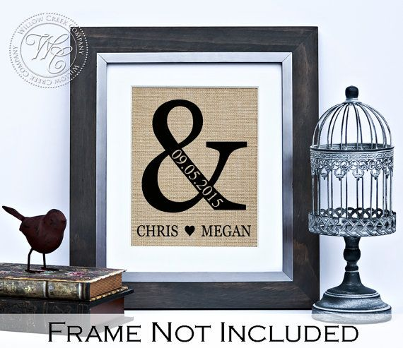 Ampersand Sign  Wedding Gift  Wedding Gift by WillowCreekCompany