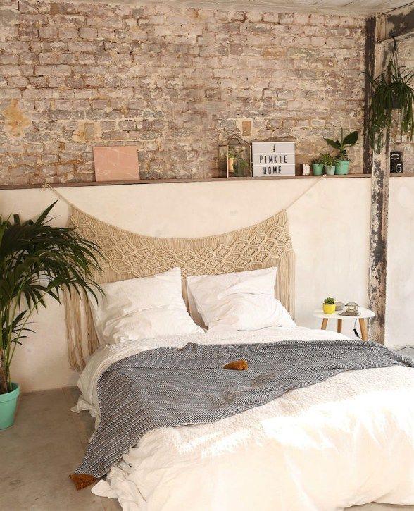 les 25 meilleures id es de la cat gorie t te lit sur pinterest chambres boh miennes boh me et. Black Bedroom Furniture Sets. Home Design Ideas