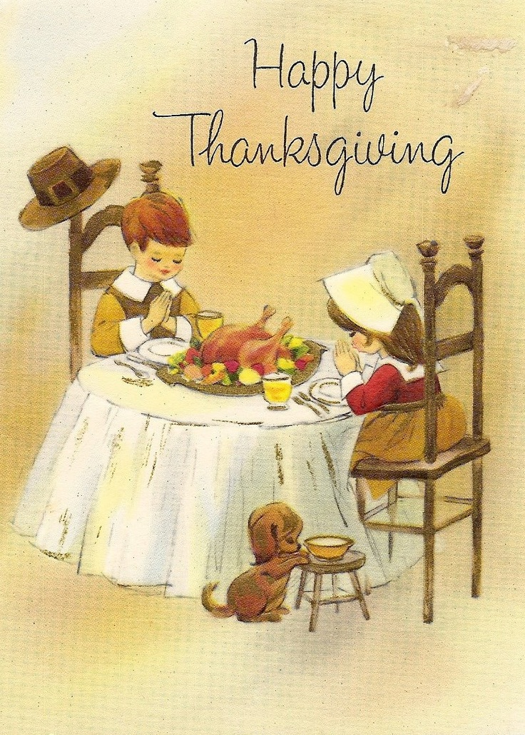 Old Fashion Card Happy Thanksgiving
