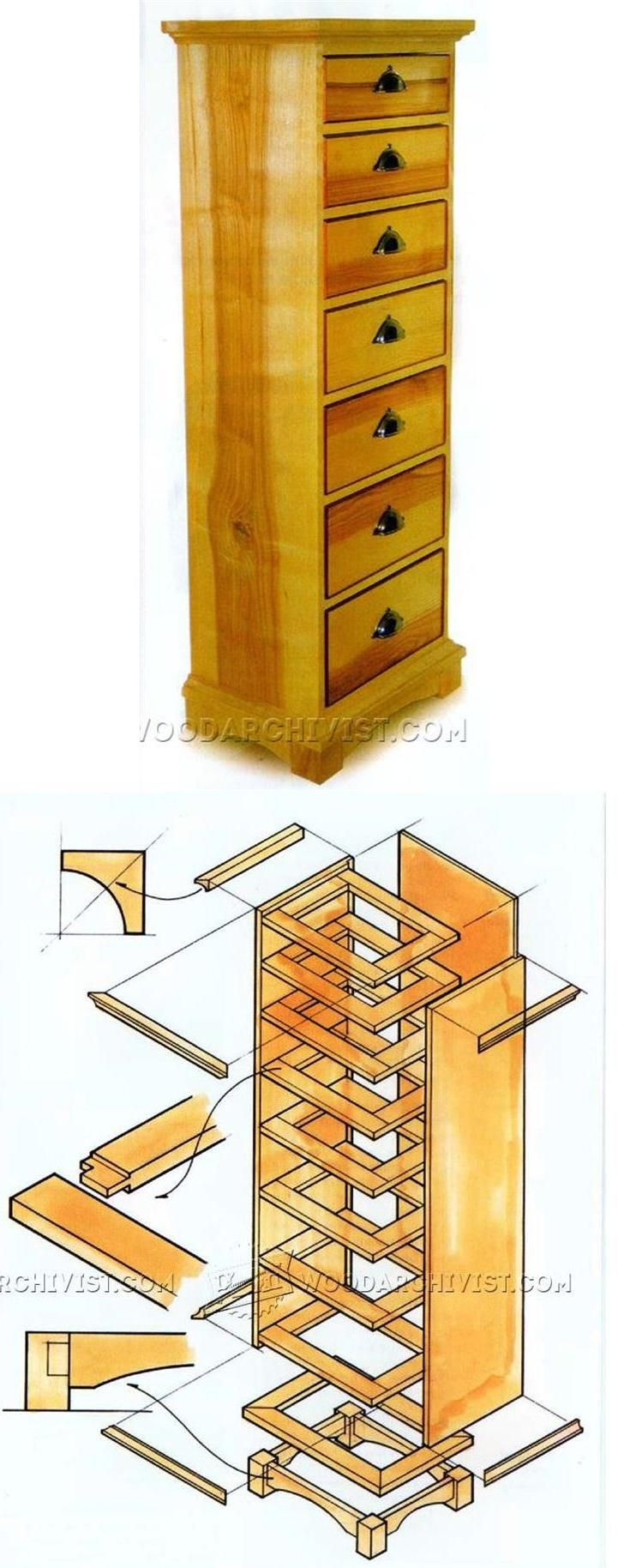 High Chest of Drawers Plans - Furniture Plans and Projects | WoodArchivist.com