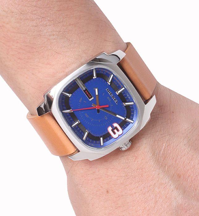 Diesel mens blue dial leather analog quartz watches DZ1653 #Diesel #Watches #wristwatch
