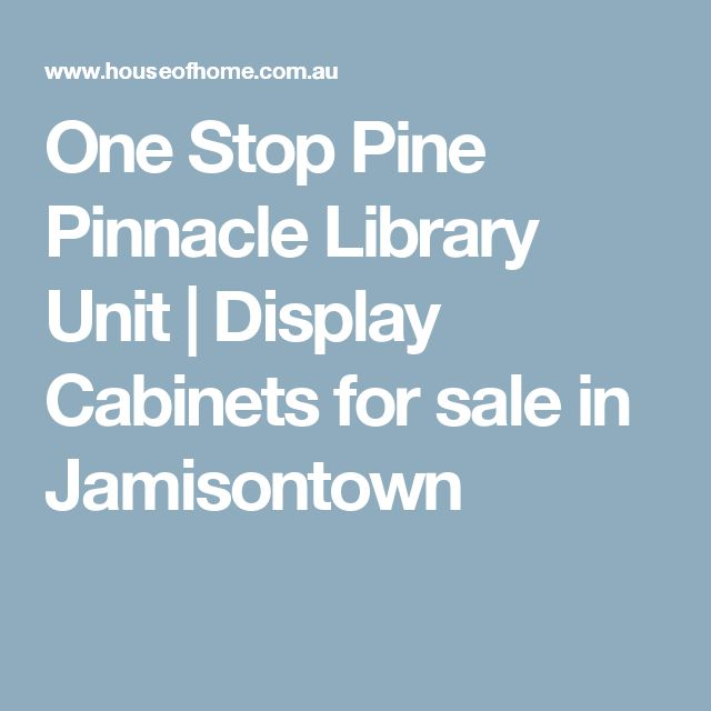 One Stop Pine Pinnacle Library Unit | Display Cabinets for sale in Jamisontown