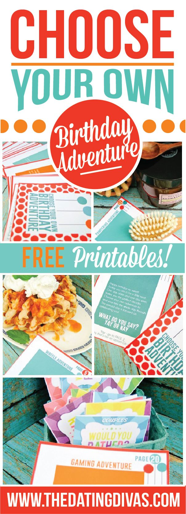 Choose Your Own Birthday Adventure Date! Free Printables!