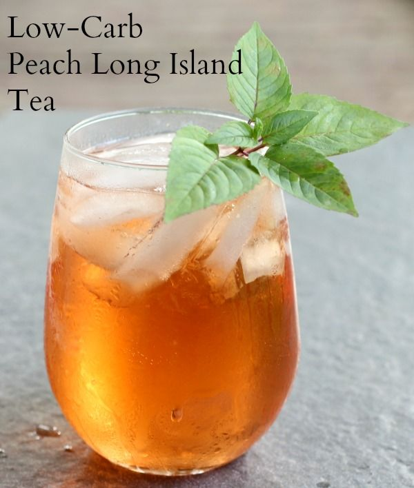 This peach long island tea is sweet and refreshing and low carb - lowcarb-ology.com