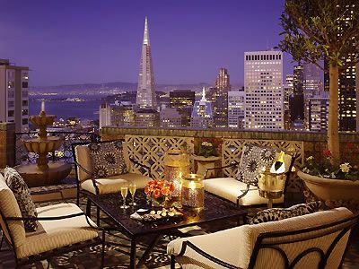 View from the Penthouse Suite at The Fairmont San Francisco San Francisco Hotel Interior Designs