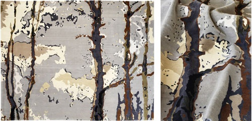 """Into the Woods"" carpet by Toronto-based designer Bev Hisey. Click for Q&A with the designer. #Toronto #rug #design"