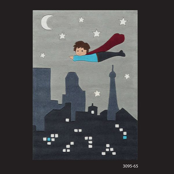 Arte Espina Kids Line 2013 Glowy Collection Superhero Rug 3095 65 At Kings  Providing The