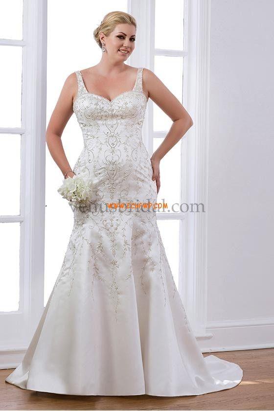 Satén Šněrování Empírové Svatební šaty 2015