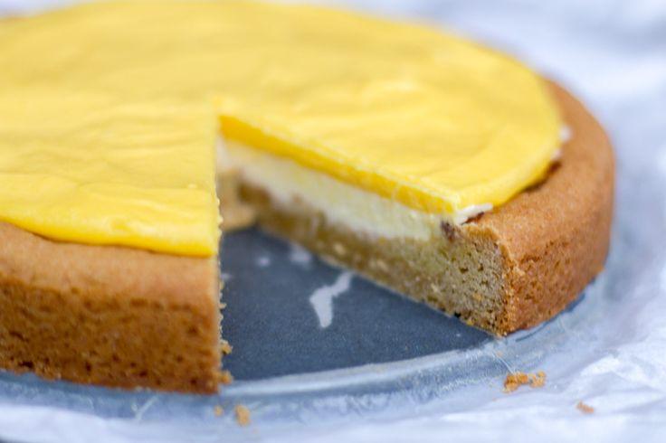 Zomerse mango curd taart - Zoetrecepten