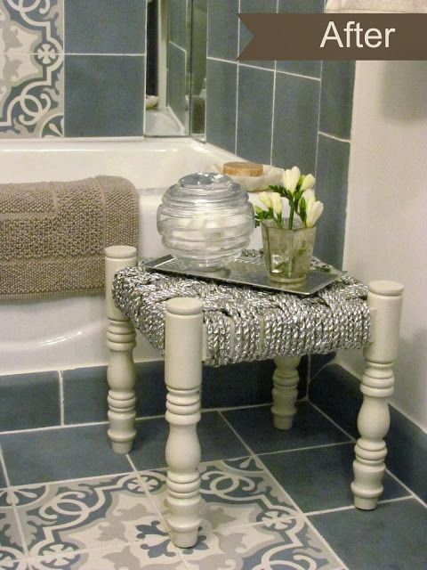 Dec-a-Porter: Imagination @ Home: Before & After: Remodeling the Bathroom at the Ronald McDonald House. Sevilla pattern shown