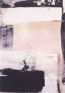 Abstract painting in pink