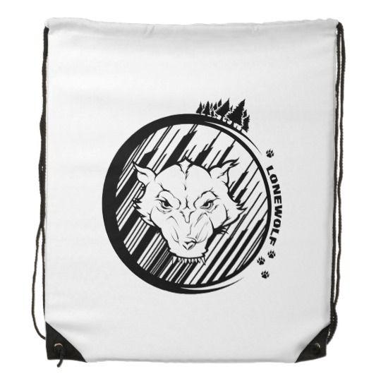 Lonewolf Drawstring Backpack