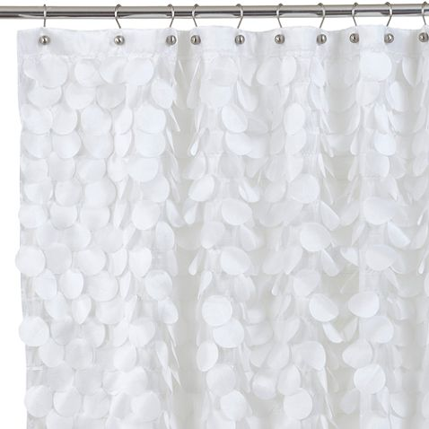Find This Pin And More On Downstairs Guest Bathroom Gigi White Fabric Shower Curtain