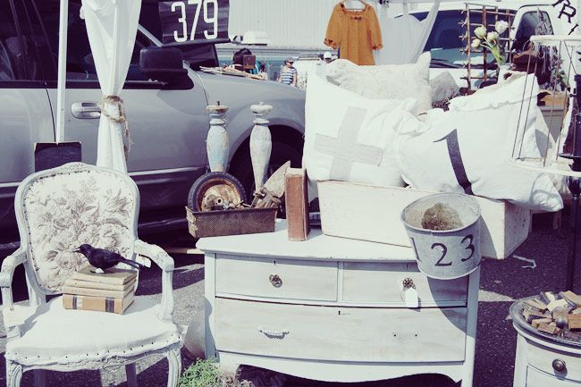 shabby chic furniture at the long beach antique flea market