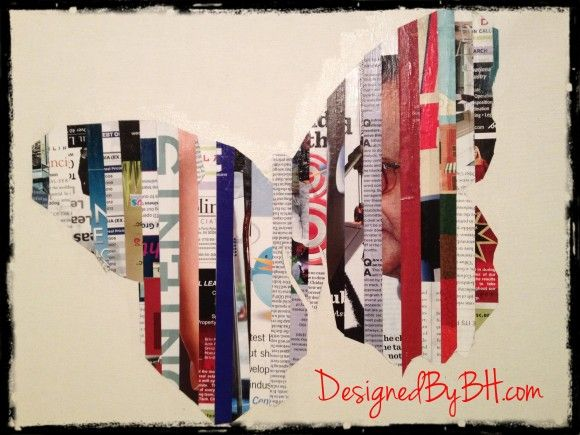 Magazine Strip Art BUTTERFLY DONE