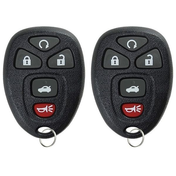 New 2pcs New Premium Keyless Entry Key Fob Transmitter Remote
