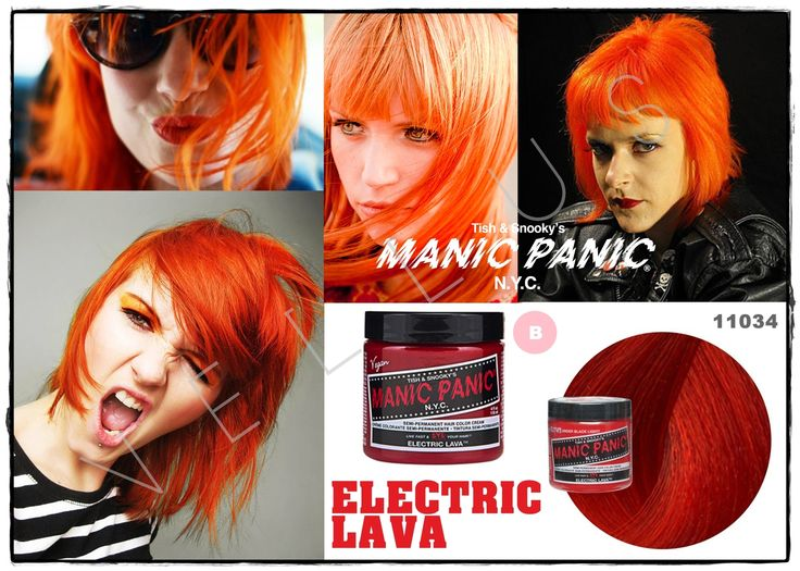 Manic Panic Classic Electric Lava  Vellus Hair Studio 83A Tanjong Pagar Road S(088504) Tel: 62246566