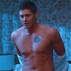 [gif] Jensen, shirtless, gag reel :D